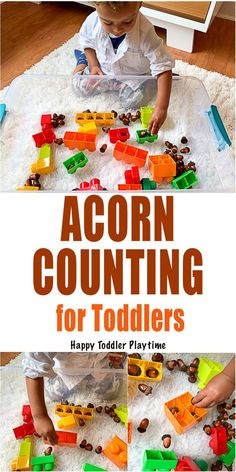 Counting For Toddlers, Fall Activities For Toddlers, Fall Preschool, Counting Activities, Infant Activities, Preschool Activities, Preschool Learning, Parenting Toddlers, Creative Activities