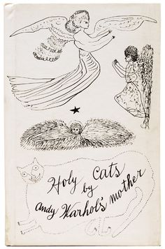 """Andy Warhol - Holy Cats, 1954. First edition, sole printing. One of two books produced by Warhol in or around 1954 each produced in very small numbers - possibly between 50 and 100 copies. With the Andy Warhol Estate stamps to the rear pastedown with the pencil initials of """"T.J.H."""". These initials are those of Tim Hunt a key figure in the Warhol Foundation. The stamps confirm the book to have been uncirculated and in the possession of Warhol at the time of the artist's death in 1987."""