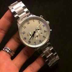 Portugal series multifunctional big dial stainless steel strap mens watch quartz movement  #watches #whitewolfwatchshop #gift #a66marketing