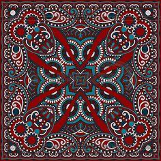 Традиционные декоративные цветочные Пейсли бандану | Векторный клипарт | ID 3642648