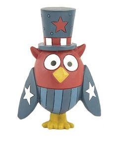 Take a look at this Patriotic Owl Figurine by Blossom Bucket on #zulily today! http://www.zulily.com/invite/marchingduck414