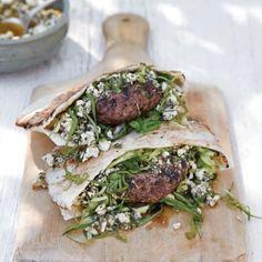 Lamb Burgers with Mint-Feta Pesto | Williams Sonoma