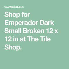 Shop for Emperador Dark Small Broken Marble Wall and Floor Tile - 12 x 12 in. at The Tile Shop. The Tile Shop, Marble Wall, Shower Remodel, Wall And Floor Tiles, Flooring, Bathroom, Dark, Washroom, Full Bath
