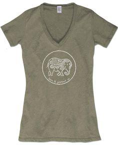Organic Elephant Tee: Soul Flower Clothing