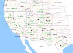 Map of Southwest USA
