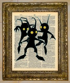 Kingdom Hearts Heartless Dictionary Art by atthedrivein on Etsy, $6.50
