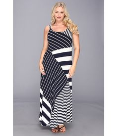 b2fc8783ebf Vince Camuto Plus Plus Size Wrap Top Stripe Mixed Print Maxi Dress Striped  Maxi