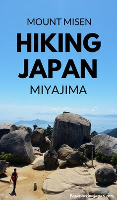Travel Japan hiking trails with day hikes - Mount Misen hike to Mt Misen summit. One day trip to Miyajima from Hiroshima. Best things to do. Best places to visit. Outdoor travel destinations, backpacking Japan travel tips on a budget, trip planning, where to go on vacation, holiday. Culture travel, beautiful places, asia, for world bucket list, wanderlust inspiration, adventure. #flashpackingjapan