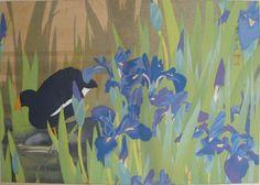 Iris and Moorhen (Late Spring)