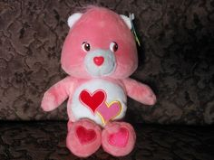 "2003 Those Characters From Cleveland (TCFC)/Play Along ""Love-a-lot Bear"" Care Bears Plush, Cleveland, Teddy Bear, Characters, Play, Dolls, Animals, Baby Dolls, Animales"
