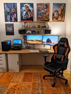 Computer Gaming Room, Computer Desk Setup, Gaming Room Setup, Pc Setup, Gaming Rooms, Best Gaming Setup, Small Game Rooms, Video Game Rooms, Video Games