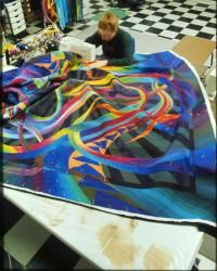 Working with chevrons, used versa vees from Stitch Happy ... : machine quilting a large quilt - Adamdwight.com