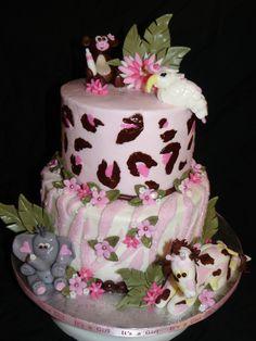 Safari Baby Shower   Safari Themed Baby Shower Cake. Bird Is A Version Of  Macsmom