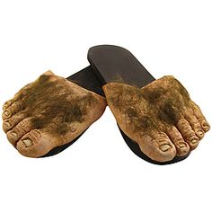 Look like you just stepped out of the Shire when you slip on these hairy feet.