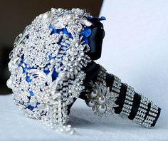 Vintage Wedding Cascading Bouquets | Vintage Cascading Teardrop Bridal Brooch Bouquet Tear by LXdesigns