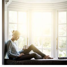 View top-quality stock photos of Woman Having Coffee While Using Digital Tablet On Window Sill. Find premium, high-resolution stock photography at Getty Images. Effort, Joshua Smith, Lifestyle Fotografie, Lifestyle Photography, Digital Tablet, Self Storage, I Quit, Angst, Essential Oils