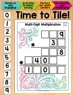 Multi-Digit Multiplication Math Tiles.  Take students' understanding of this standard algorithm to a whole new level.  Excellent activity for engaging critical thinking and problem solving. $