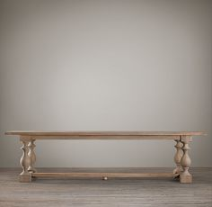 Balustrade tables like these were once part of life in medieval, 17th-century monasteries. Today, our reproduction is true to the original's hand-hewn style and trestle design