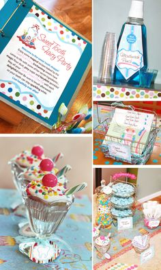 Totally doing this for Children's Dental Health month when the girls are old enough! Dental Kids, Children's Dental, Dental Offices, Party Desserts, Dessert Party, Dessert Table, Dental Health Month, Fairy Birthday Party, Birthday Ideas