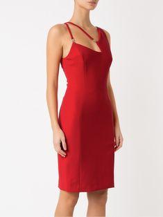 ac9b75242 Versace Collection Vestido tubinho com recortes Vestido Vermelho Curto,  Vestido Listrado, Vestido Médio,