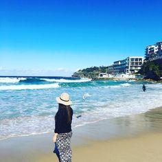 (Loc) Posted on May 30 2016 at 01:30PM: #happy#me#girl#polishgirl#bondi#beach#sydney#picoftheday#ootd#instasize#instamoment#amazing#place#love love love  by kima_w