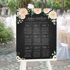 Custom // Printable // Digital Wedding Seating Sign // by 4thAve