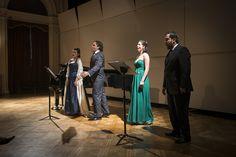 Juan Pablo Dupré, tenor; Marcela González, soprano; Paulina Gonzáles, soprano y Ricardo Seguel, barítono. Foto: Patricio Melo