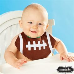 Mud Pie Baby Boy Multi-color Little Sport Bibs (Football Bib) Sport Football, Baseball, Mud Pie Baby, Baby Sewing Projects, Baby Crafts, Baby Patterns, Sewing Patterns, Baby Accessories, Ideas