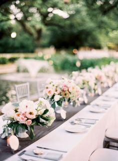 our romantic wedding flowers & decor (lots of pics!) :  wedding auswater flowers garden roses inspiration ivory peonies pink reception romantic wedding flowers silver white JenHuangNR400H 135 Of 200