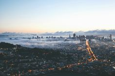 kianamccourt:  San Francisco from atop Twin Peaks on the first sunrise of Autumn