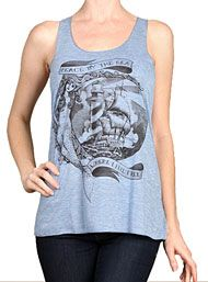 Peace By The Sea Mermaid Tank Top