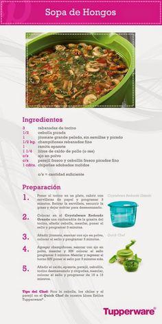 Vende Tupperware Tampico: Sopa de Hongos