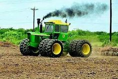 John Deere 7520 FWD.175hp tractor with triples?