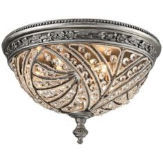 """Renaissance 16"""" Wide Weathered Zinc 4-Light Ceiling Light.  I wish I had a room that could use a fixture like this.  So elegant."""