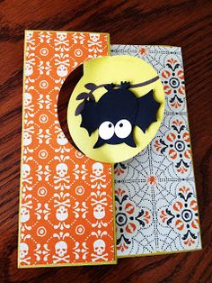 Owl Halloween thinlit circle card! Directions included!