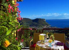 Costermano, a balcony facing the Lake Garda...