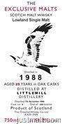 The Exclusive Malts Scotch Malt Whisky - Littlemill 25 Year, Strathmill 23 Year, Glancadam 21 Year, Bladnoch 21 Year, Glen Garioch 20 Year, ...