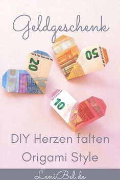 DIY banknotes Origami style – fast and easy heart folding. The perfect money gift for a wedding or a birthday. On Lenibel. Source by lenibel_kreativ Origami Bird, Origami Easy, Perfect Money, Bath Recipes, Diy Home Decor Projects, Simple Gifts, Meaningful Gifts, Christmas Pictures, Diy Hacks