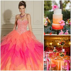 If you're looking for pops of color throughout the venue, you may want to consider pink & orange. These tropical colors are perfect for the Spring or Summer. - See more at: http://www.quinceanera.com/decorations-themes/unexpected-pink-color-combinations-that-look-amazing/?utm_source=pinterest&utm_medium=social&utm_campaign=article-021416-decorations-themes-unexpected-pink-color-combinations-that-look-amazing#sthash.wD5brziY.dpuf