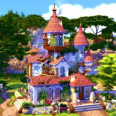 Sims 4 House Plans, Sims House, House Floor Plans, Sims 4 Houses Layout, House Layouts, Sims 4 House Design, Sims 4 Build, Fairytale Castle, The Sims4