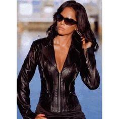 Womens Sexy Carolina Leather Jacket