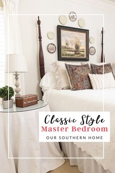 Cozy Bedroom, Master Bedroom, Bedroom Decor, White Coverlet, Down Blanket, Mirror Makeover, Southern Homes, Traditional Bedroom, Bedroom Styles