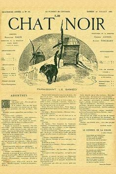 The cover to a Parisian newspaper from the Victorian era with an article about…