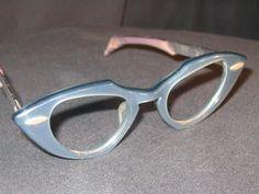 Vintage Shuron Blue Cat Eye Frames