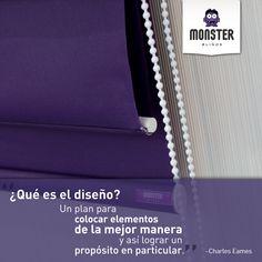 Charles Eames #monsterblinds #remodela #preciosaccesibles #diseño #tendencias #variedad #frases  #blinds #design #interiordesign