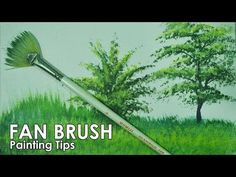 Acrylic Painting Lesson - How to Paint Grasses and Other Plants Using Fan Brush by JM Lisondra - YouTube