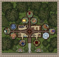 For last month's contest at the Cartographer's Guild I created an Elven House of Ill Repute. Since it is supposed to be Elven architecture I came . House of Fallen Leaves Fantasy Map, Medieval Fantasy, Autumn Leaves, Fallen Leaves, Kelly's Heroes, Cartographers Guild, Pathfinder Maps, Map Shop, Area Map