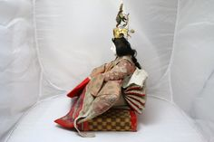 Japanese Antique Hina Ningyo Hinamatsuri Empress Doll w Base | eBay