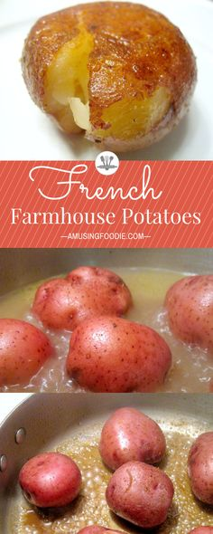 These simple and mouthwatering French farmhouse potatoes are a Jacques Pépin classic. #potatoes #sidedish #potatorecipes