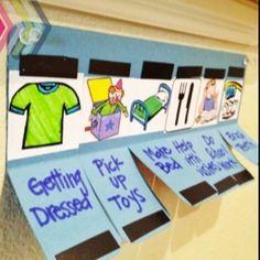 Schöne Idee um To Do Liste für Kinder zu visualisieren